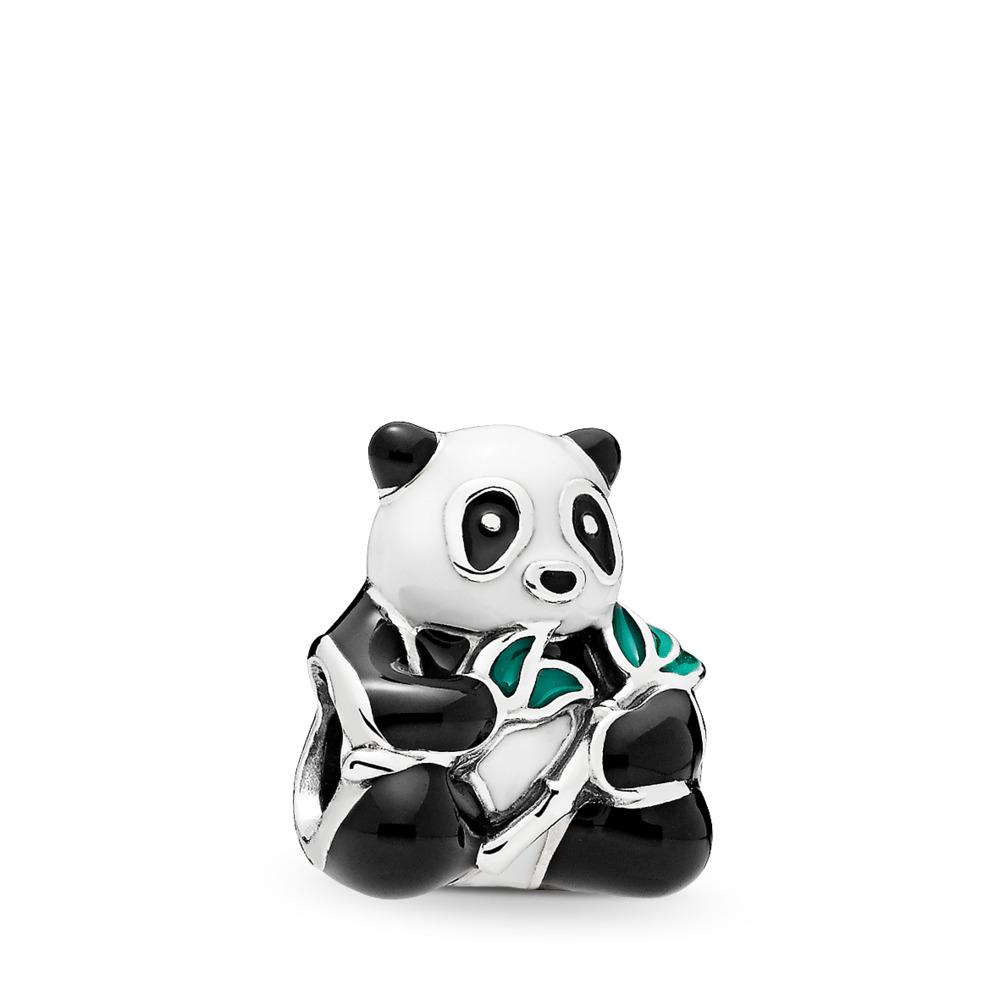 Gentil panda, émaux mixtes, Argent sterling, émail, Aucune pierre - PANDORA - #796256ENMX