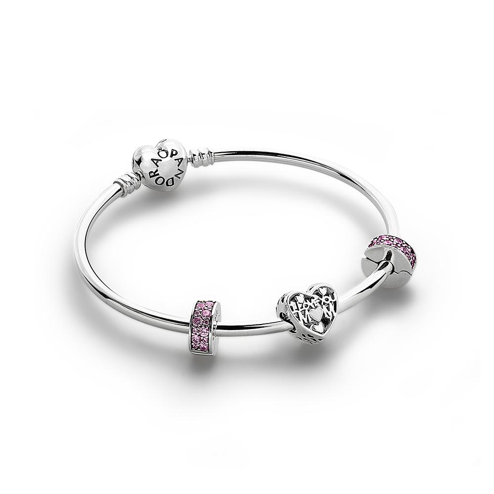 I Love You Mom Bracelet Set, Silver - PANDORA - #CS1708