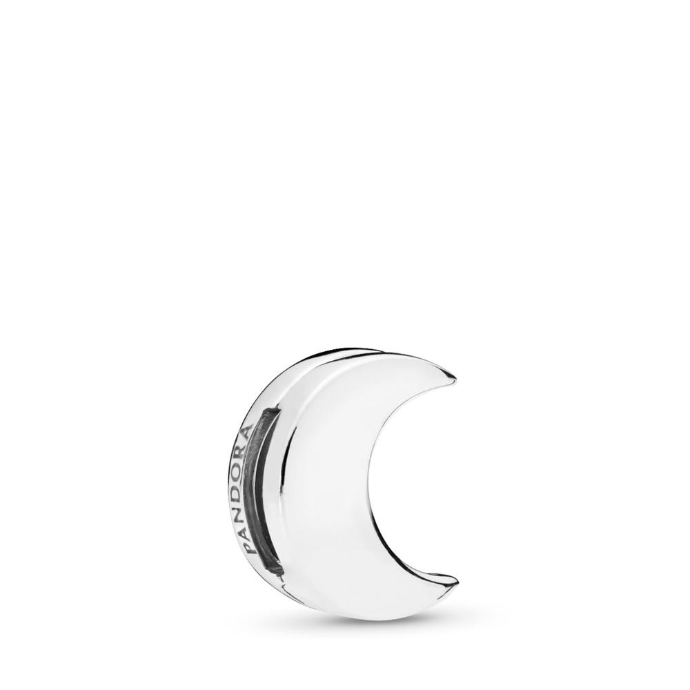 PANDORA Reflexions™ Moon Charm, Sterling silver, Silicone - PANDORA - #797552