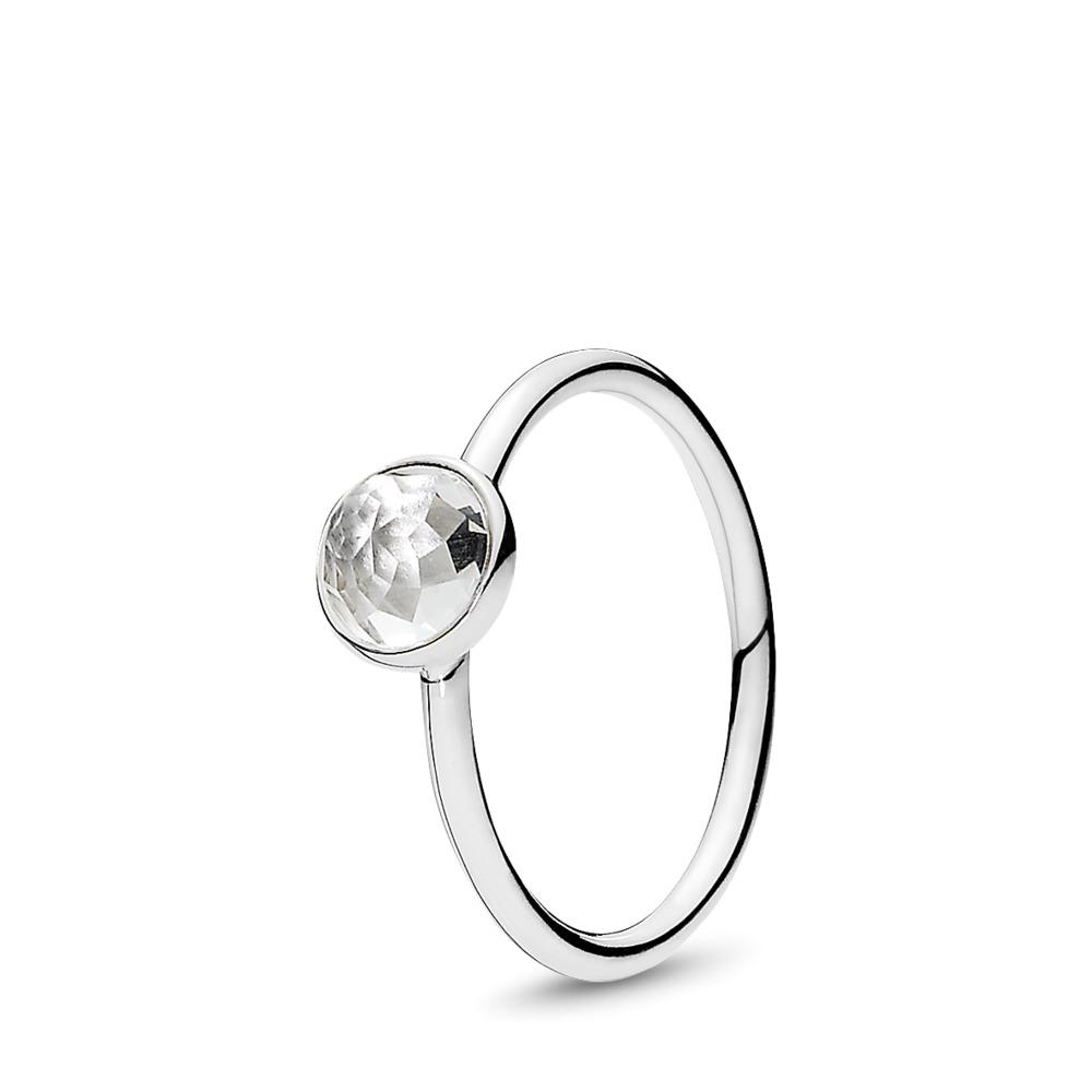 April Droplet, Rock Crystal, Sterling silver, Rock crystal - PANDORA - #191012RC