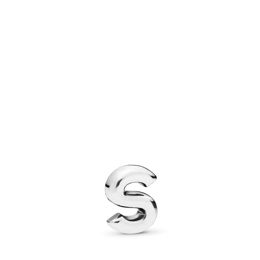 Mini Lettre S, Argent sterling, Aucun autre matériel, Aucune couleur, Aucune pierre - PANDORA - #797337
