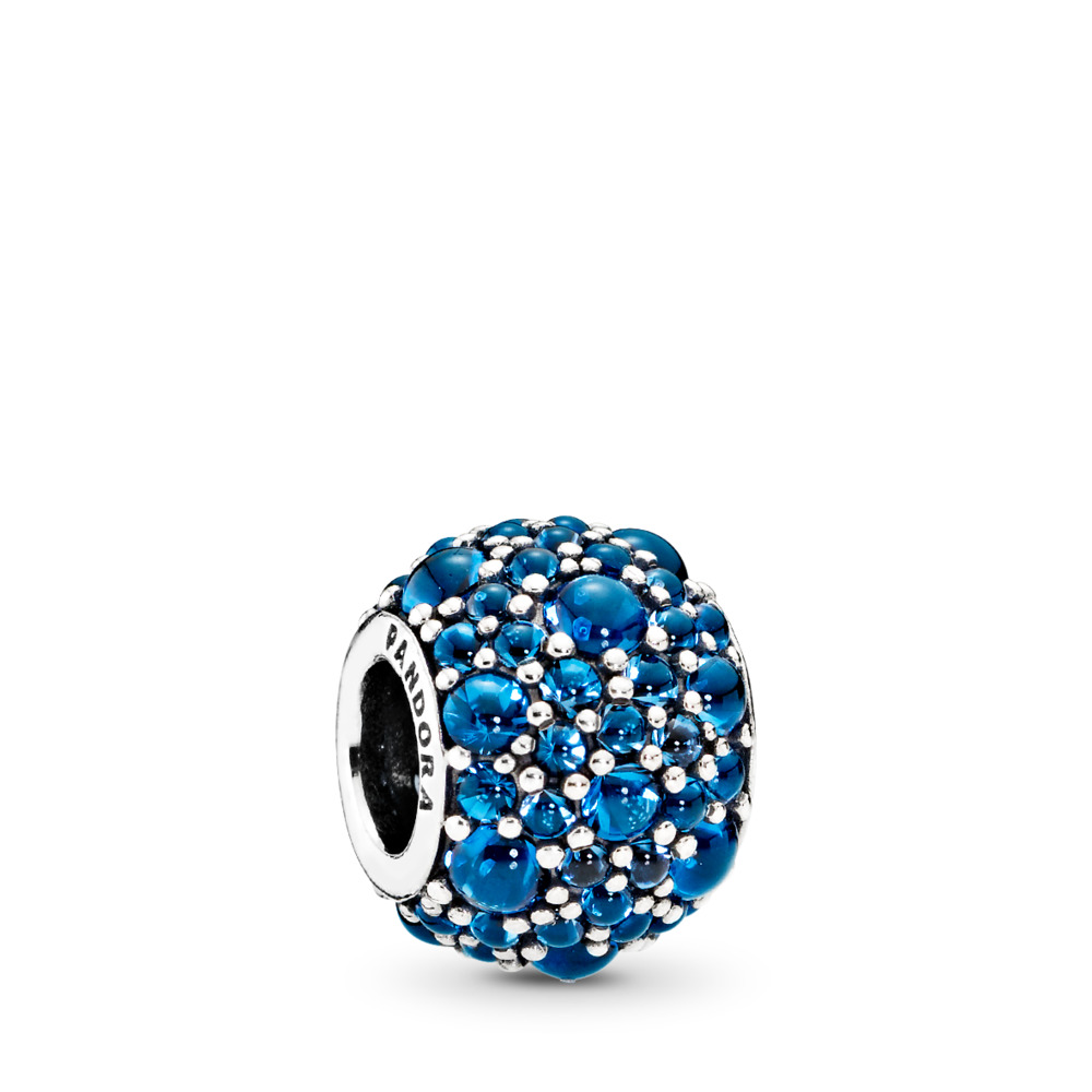 Shimmering Droplets, London Blue Crystal, Sterling silver, Blue, Crystal - PANDORA - #791755NLB