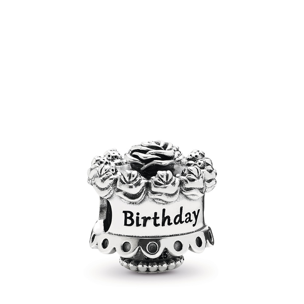 Happy Birthday Silver Charm, Sterling silver - PANDORA - #791289