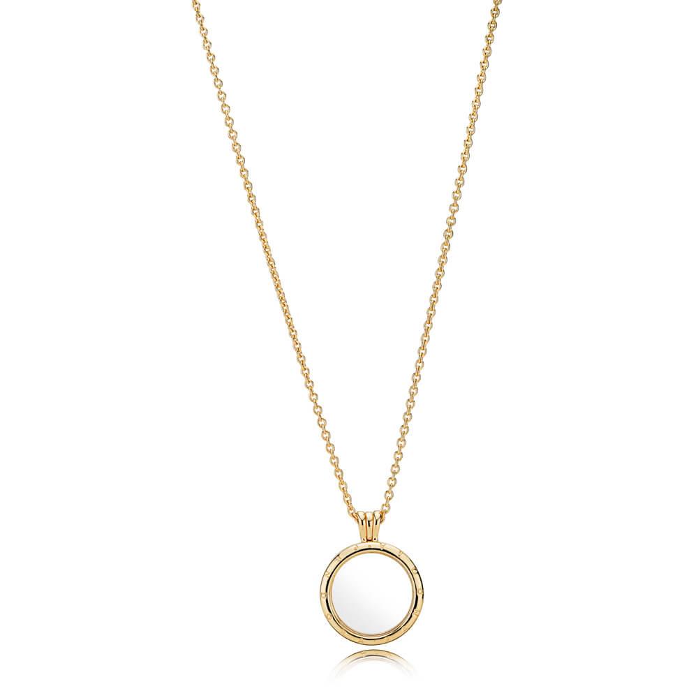 PANDORA Floating Locket Necklace, Medium, PANDORA Shine™