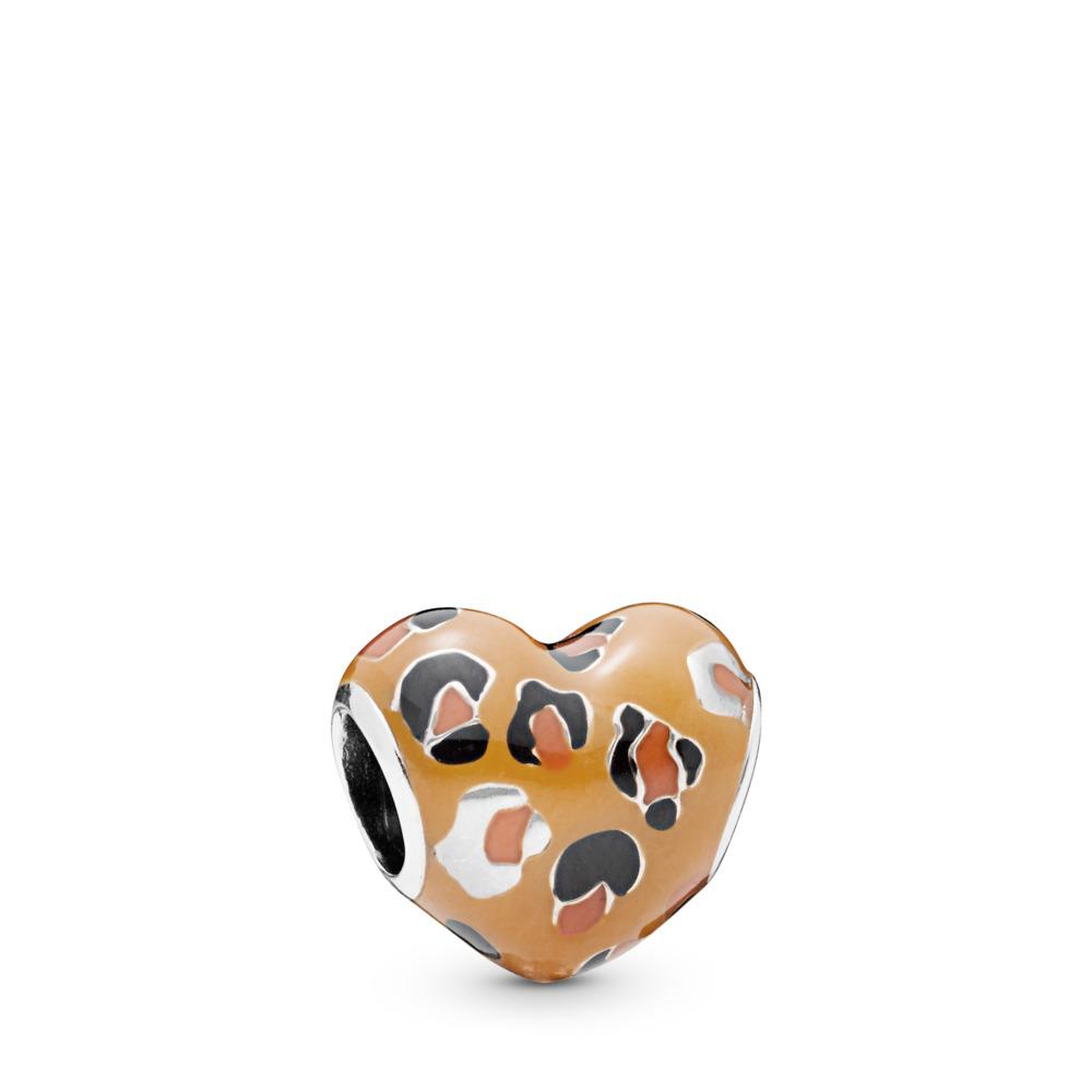 Charm Coeur sauvage, Argent sterling, émail, Aucune pierre - PANDORA - #798065ENMX