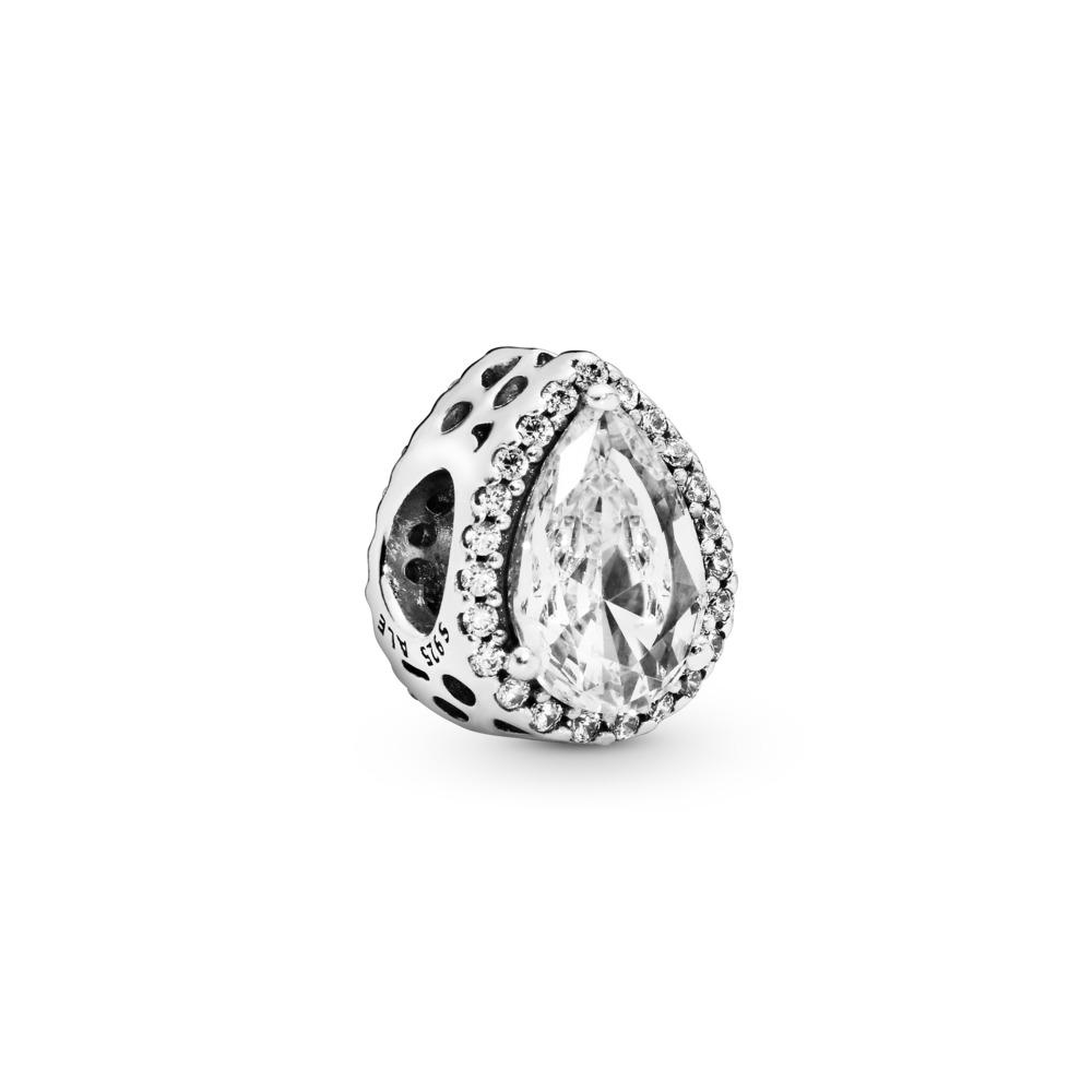 Radiant Teardrop, Clear CZ, Sterling silver, Cubic Zirconia - PANDORA - #796245CZ