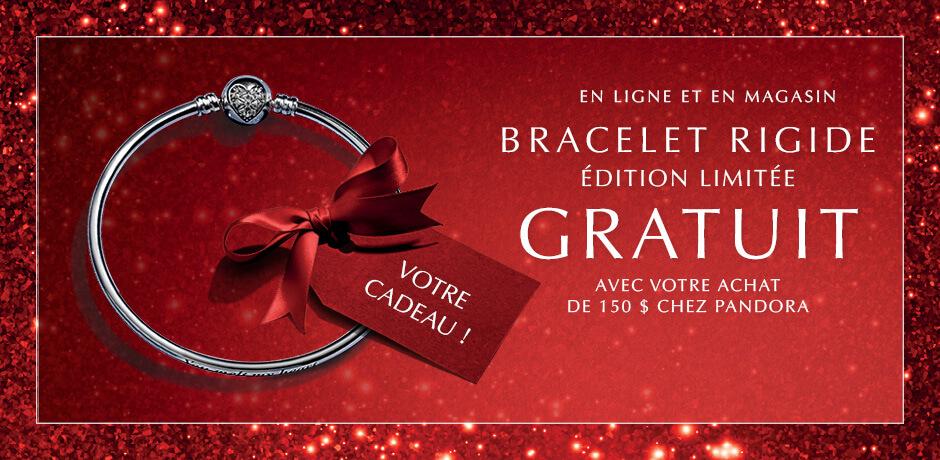 En Ligne et en magasin. Bracelet rigide edition limitee gratuit avec votre achat de 150 $ chez PANDORA