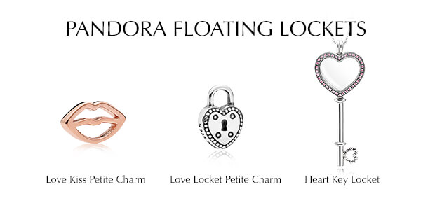 PANDORA floating lockets