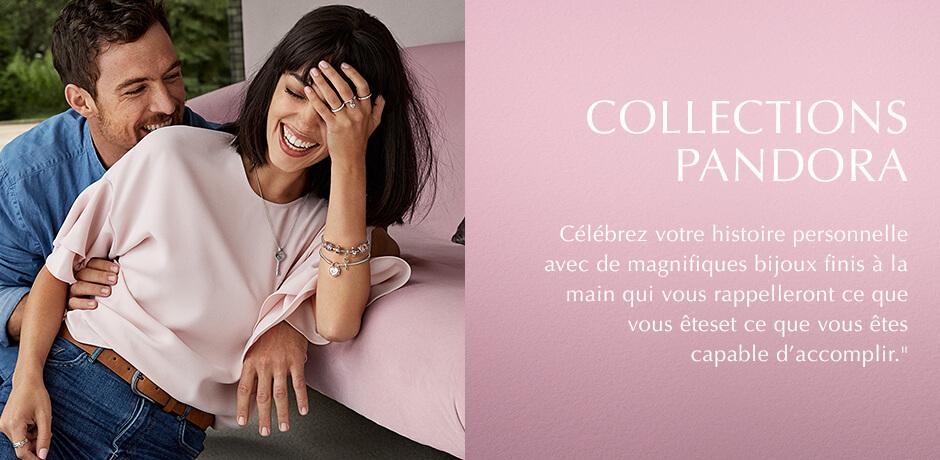 Pandora Collections. Celebrez votre histoire personnelle avec de magnifiques bijoux finis a lal main qui vous rappelleront ce que vous etes et ce que vous etes capable d'accomplir.