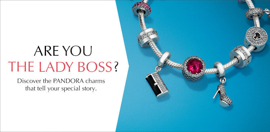 Are you the Lady Boss? Discover PANDORA charms that tell your story.