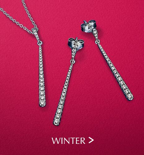 Winter earrings & necklace