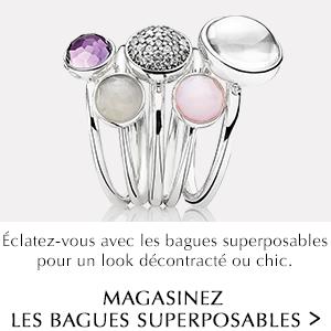Éclatez-vous avec les bagues superposables pour un look décontracté ou chic. Magasinez les bagues superposables.
