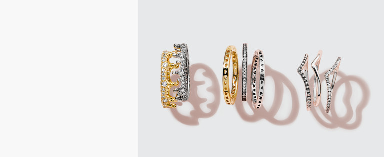 stacked stone band fine rings and gold stacking large strand round collections