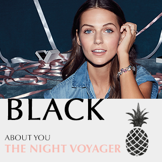 Black. About you. THE NIGHT VOYAGER.