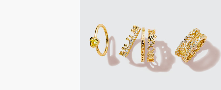 18k Gold-Plated Rings