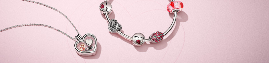 Valentine's Day bracelet with charms