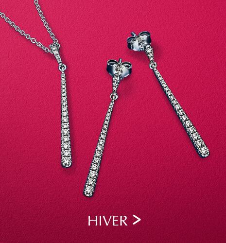 Boucles d'oreilles et colliers de Hiver