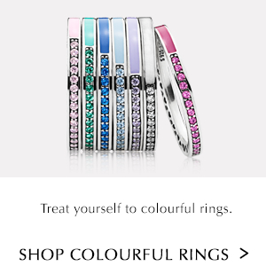 Treat yourself to colourful rings. Shop Colourful Rings.