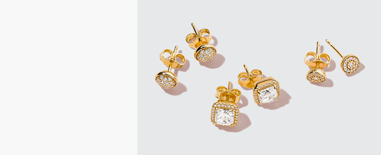 18k Gold-Plated Earrings