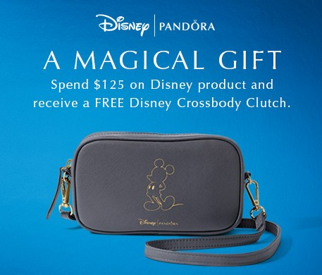 A magical gift. Spend $125 on Disney product and receive a FREE Disney Crossbody Clutch. Limited Time only.